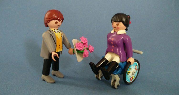 Partner met een handicap met een partner zonder handicap